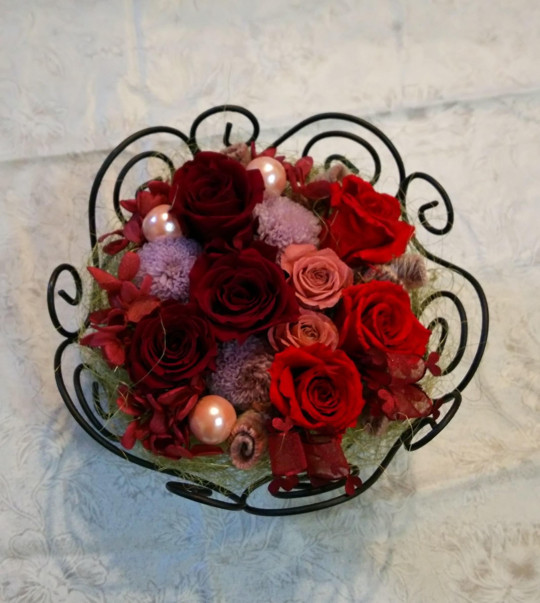 赤いバラの素材は・・・